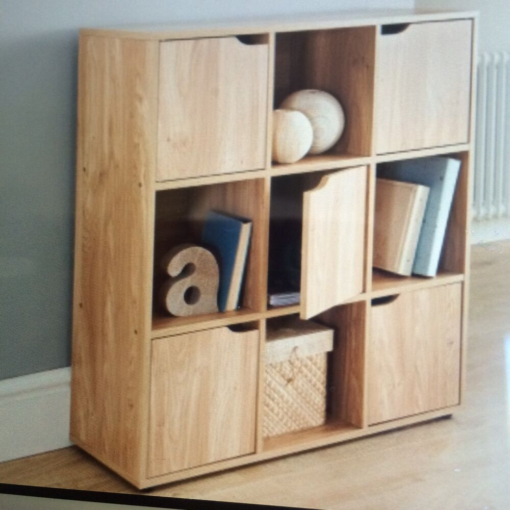 toy storage units for living room 9 cube oak turin wood shelve shelf shelving books toys 25823