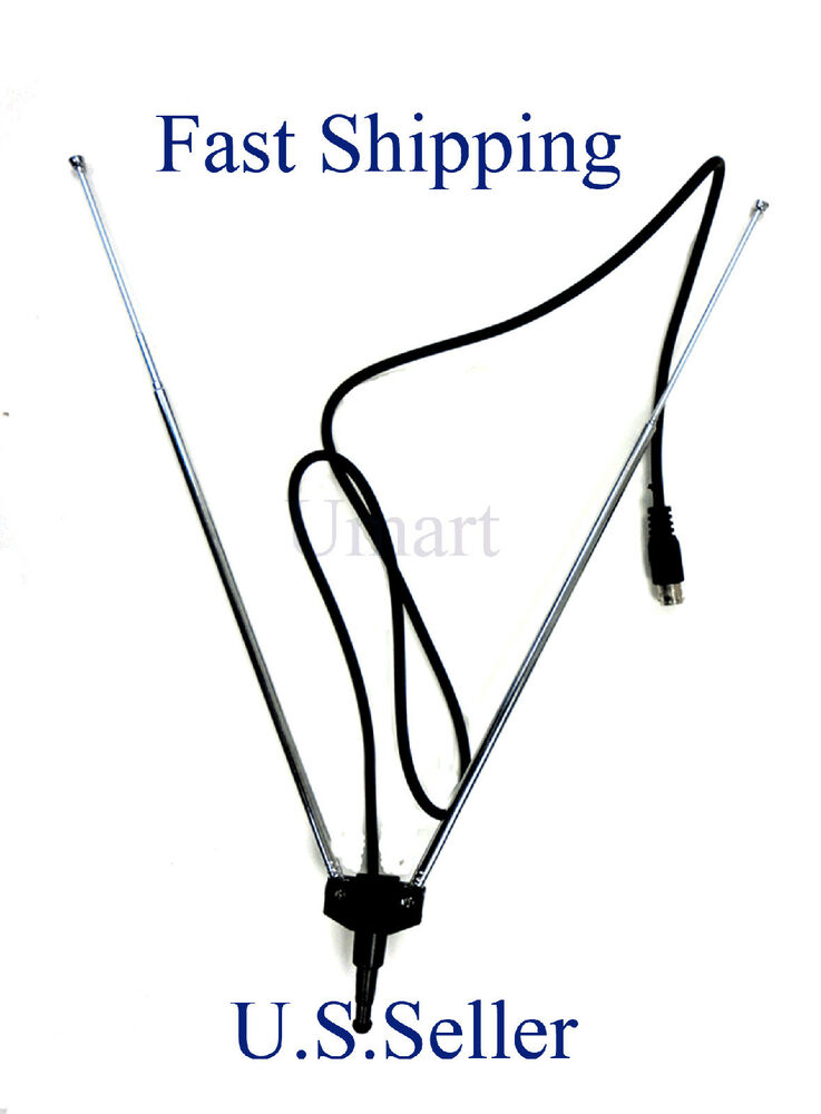 indoor rabbit ear antenna coax cable f type connector hdtv
