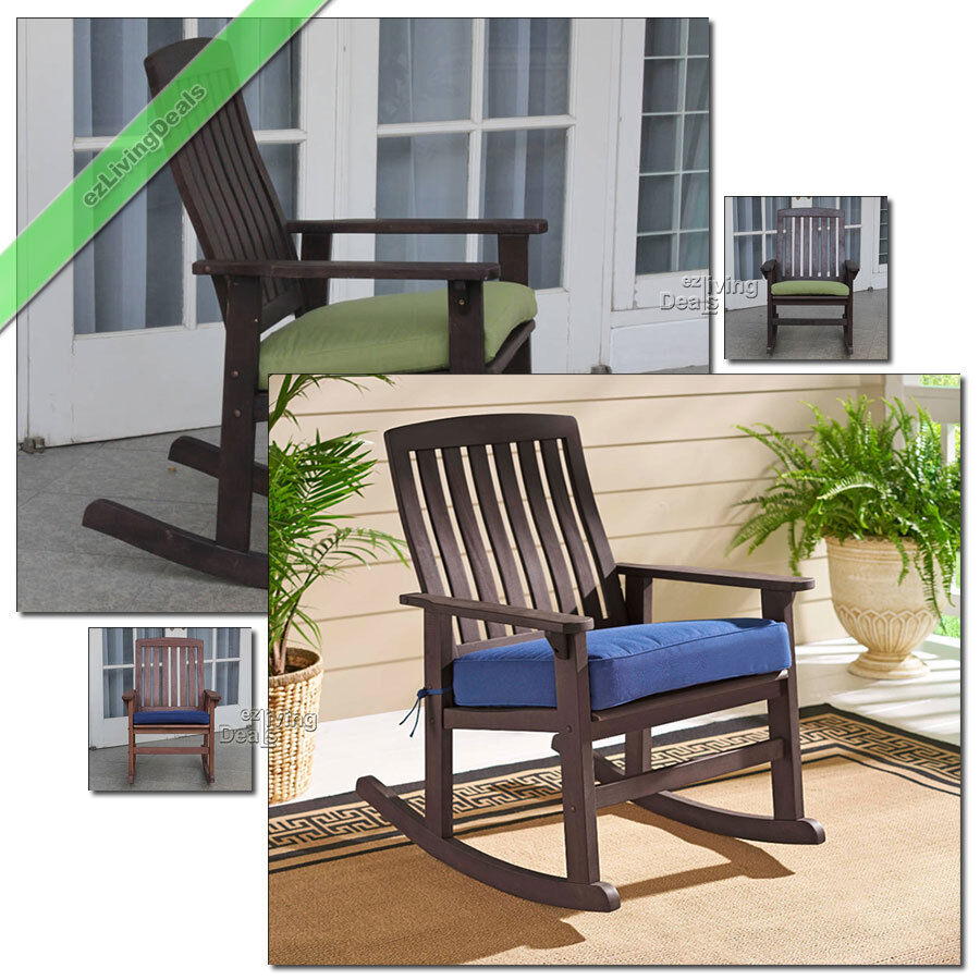 Porch Rocking Chair With Cushions Outdoor Patio Chairs