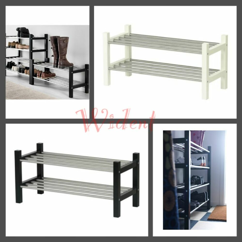 ikea tjusig shoe rack ebay. Black Bedroom Furniture Sets. Home Design Ideas