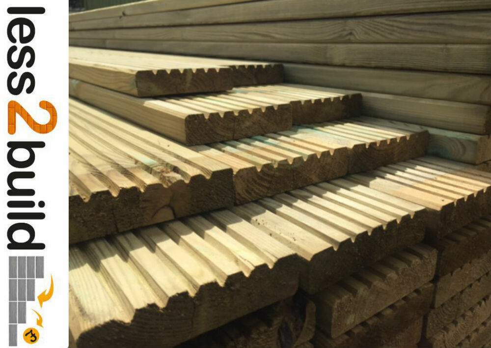 Treated timber decking boards 38x125mm 4 8m long timber for 6 metre decking boards