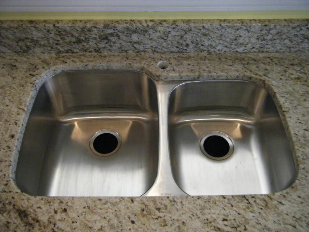 undermount ss kitchen sinks premium 18g offset bowl undermount stainless steel 6602