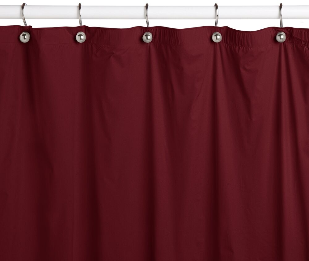 water repelant bathroom shower curtain vinyl plastic burgundy ebay