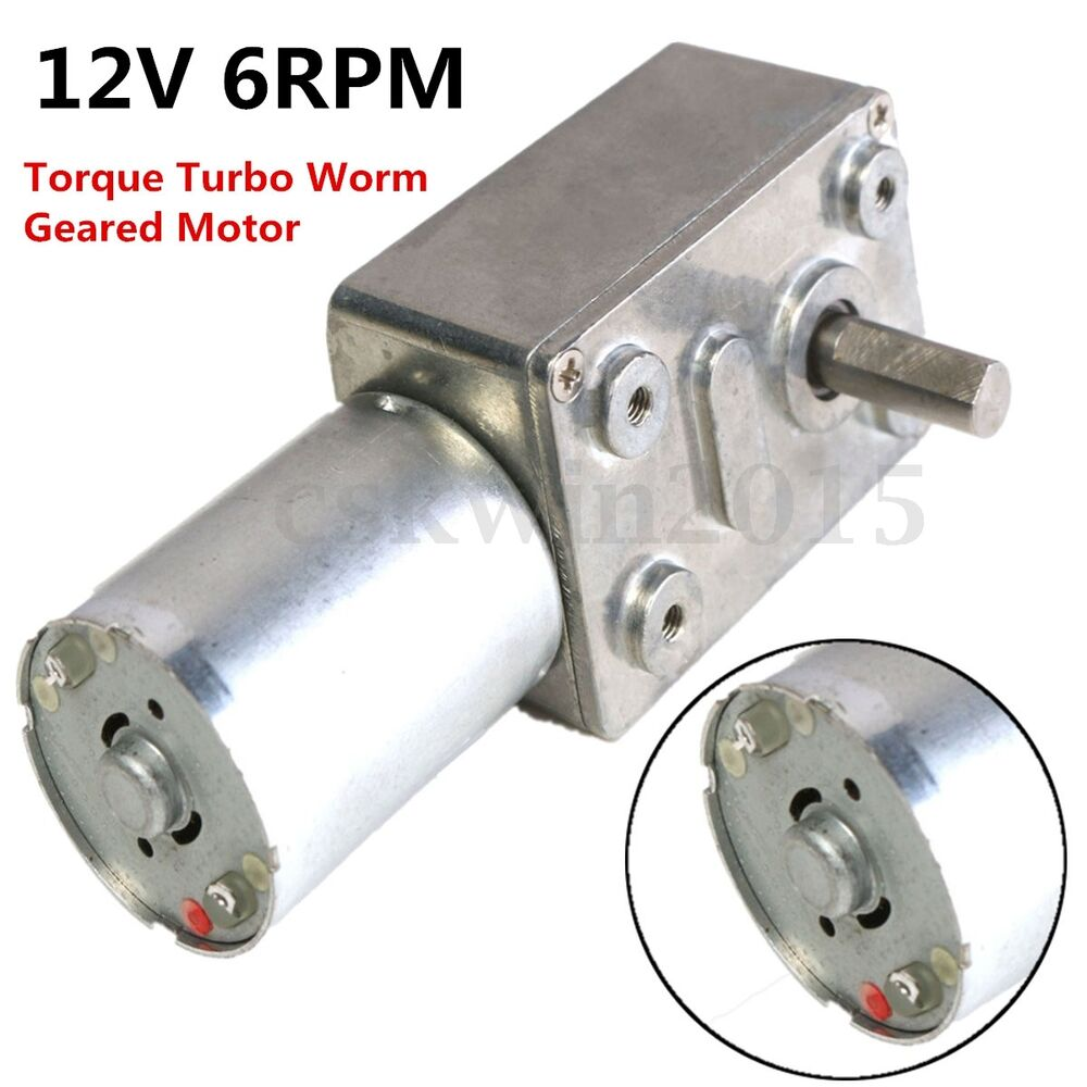 Gw370 12v 6rpm reversible high torque reducer turbo worm for High torque high speed dc motor