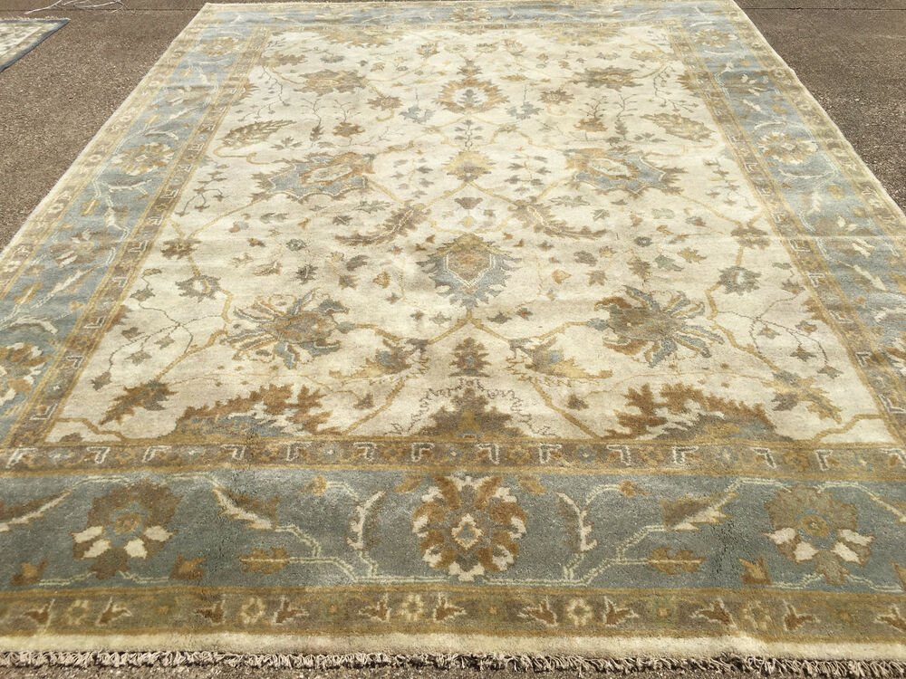 9x12 Rug New Hand Knotted Wool Woven Muted Ushak Oushak