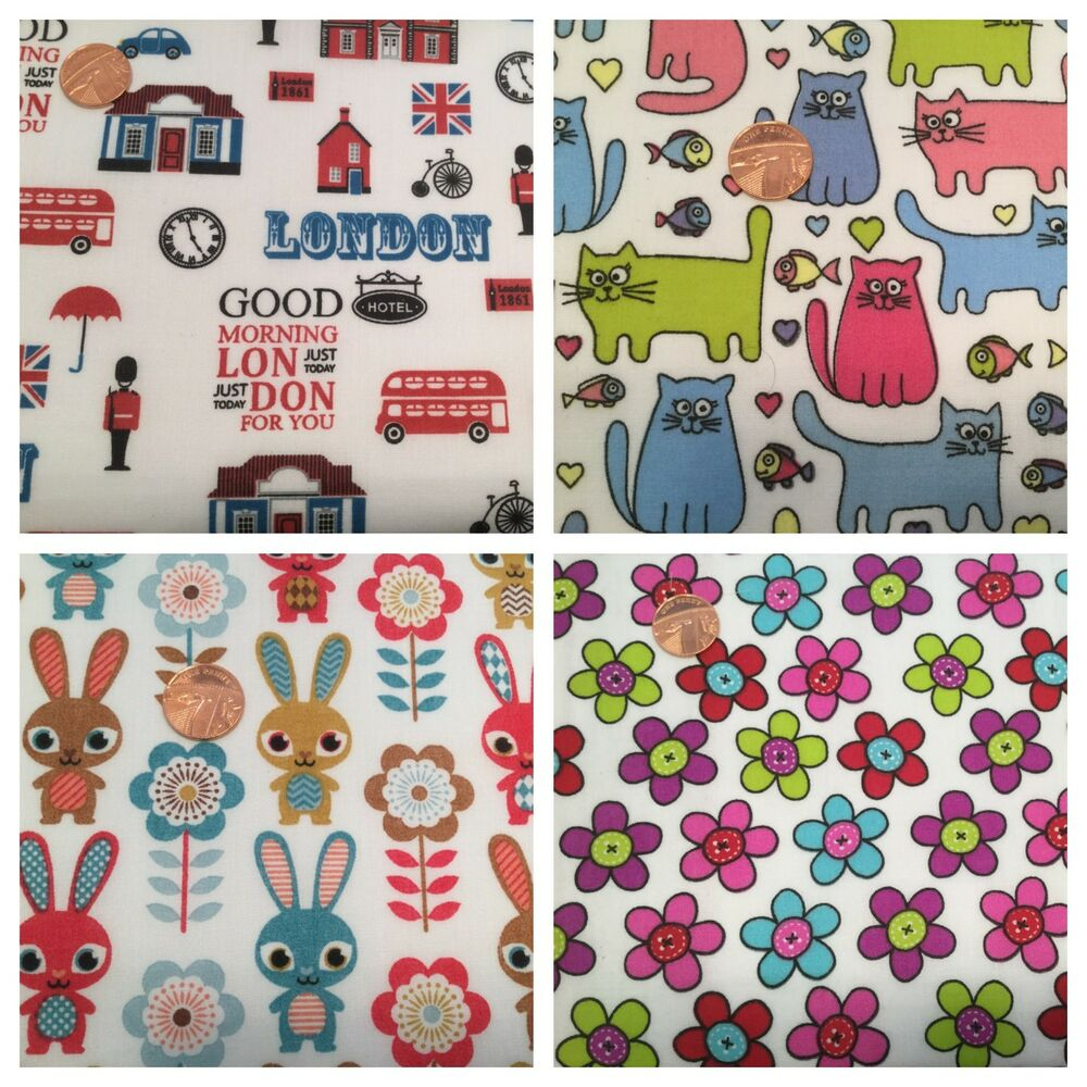 Nursery children fabric per metres fat quarters craft for Nursery fabric uk