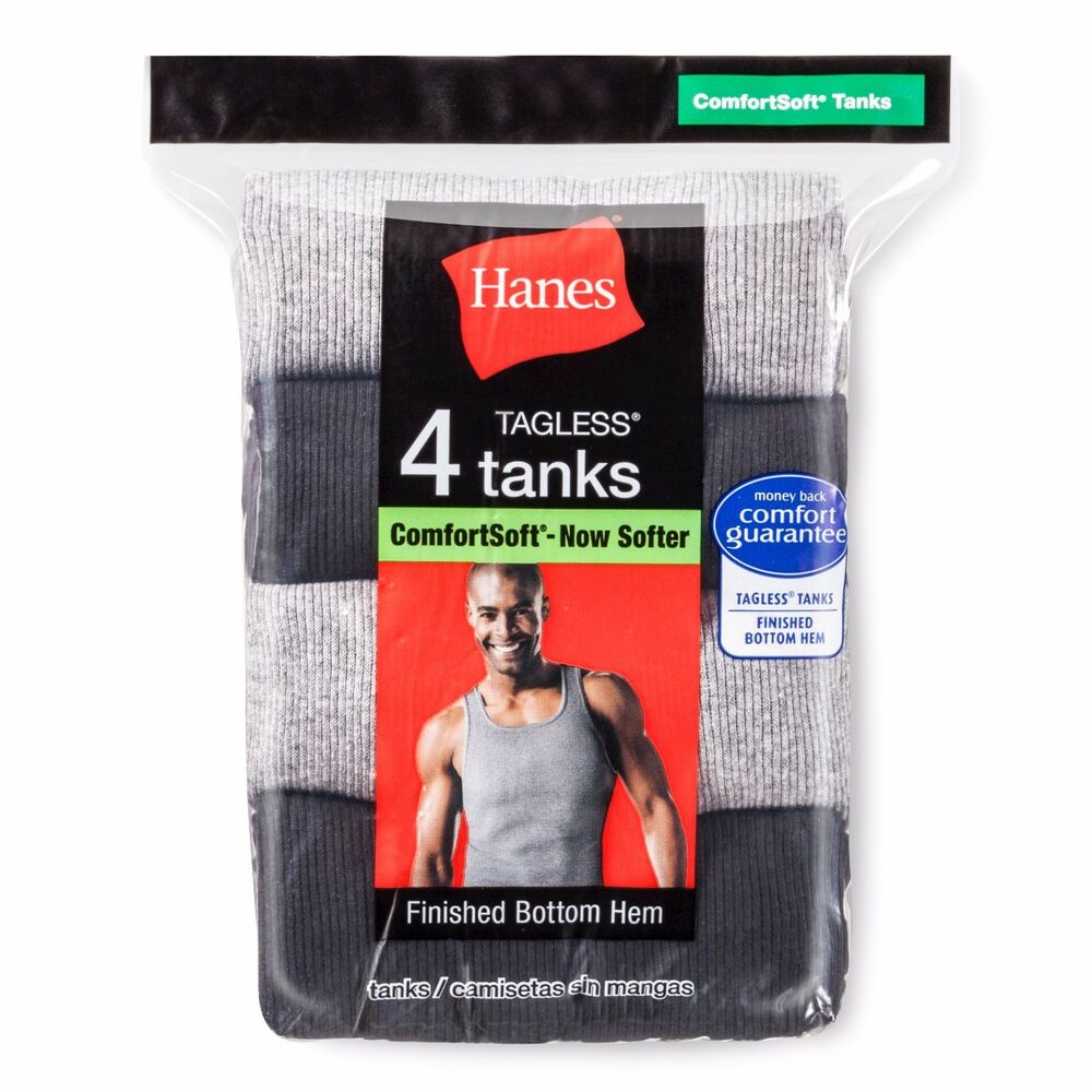 1346677878e43 Details about Hanes 392P4 Hanes Men s TAGLESS Ribbed A-Shirt 4-Pack