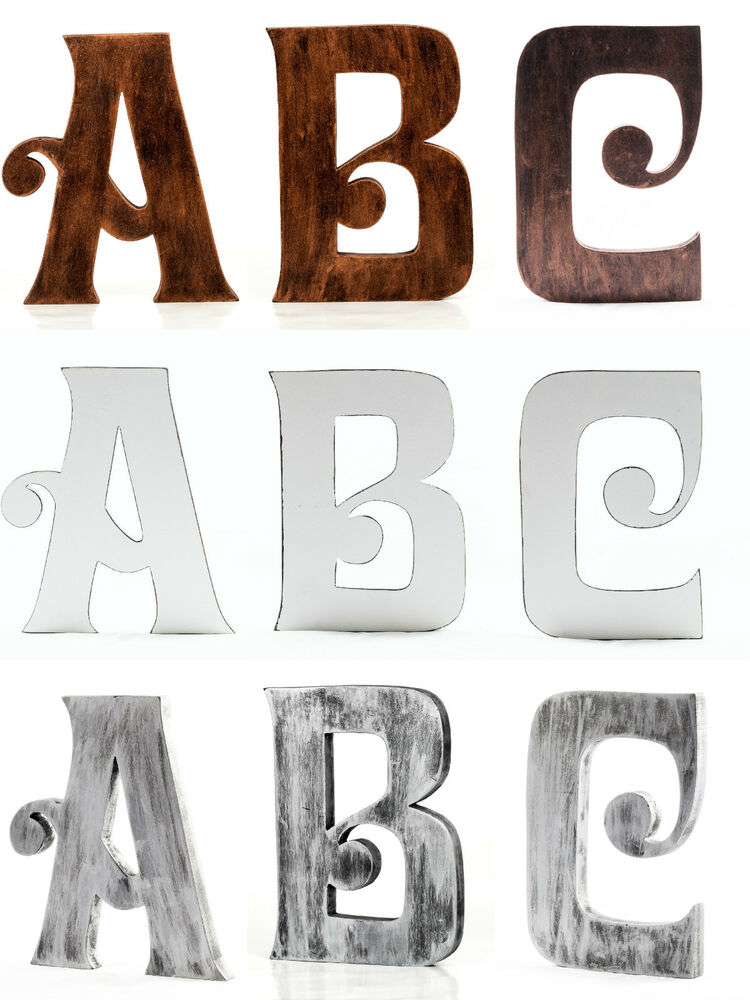 Extra large 8 inch 20 cm vintage wooden letters free for Large freestanding wooden letters