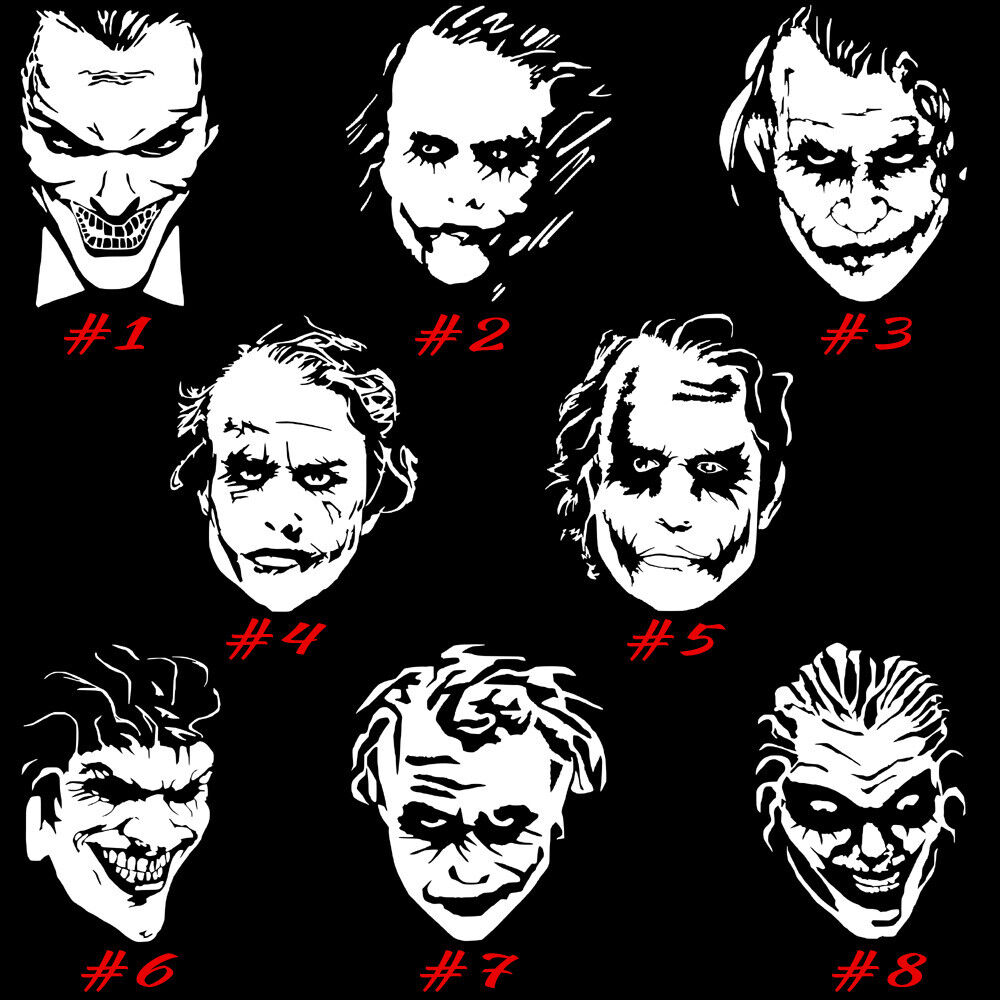 Joker vinyl decal sticker car window laptop wall art clown batman supervillain ebay