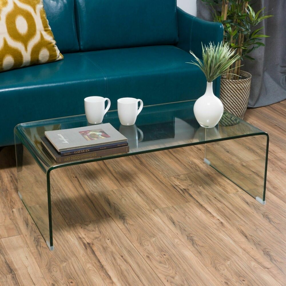 Contemporary Glass Rectangle Coffee Table