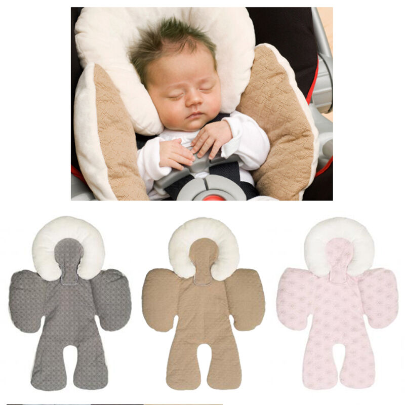 two sided newborn baby head body support infant pram stroller car seat cushion ebay. Black Bedroom Furniture Sets. Home Design Ideas