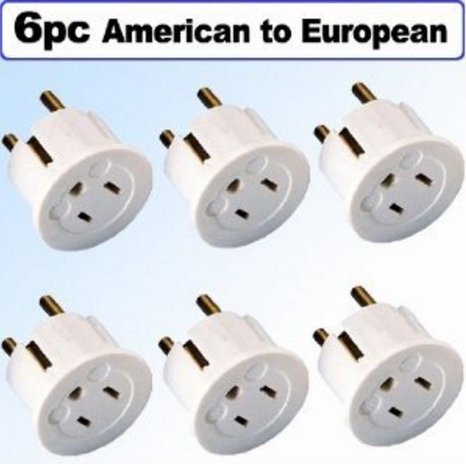 American To European Schuko Outlet Adapter Plug Power
