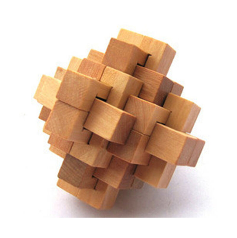 Wooden 24 piece Burr Puzzle Unlock Interlocking Brain ...