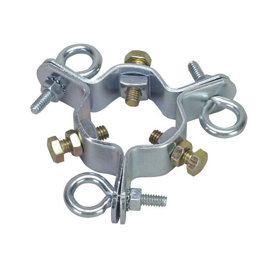 "Electrical Mast Support: Eagle EZ43A 3 Way Guy Wire Clamp Up To 2"" OD Mast With 3"