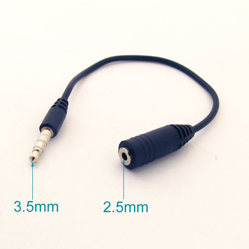 1pc 1 8 4 pole 3 ring male to female trrs aux for Precio cable 2 5mm