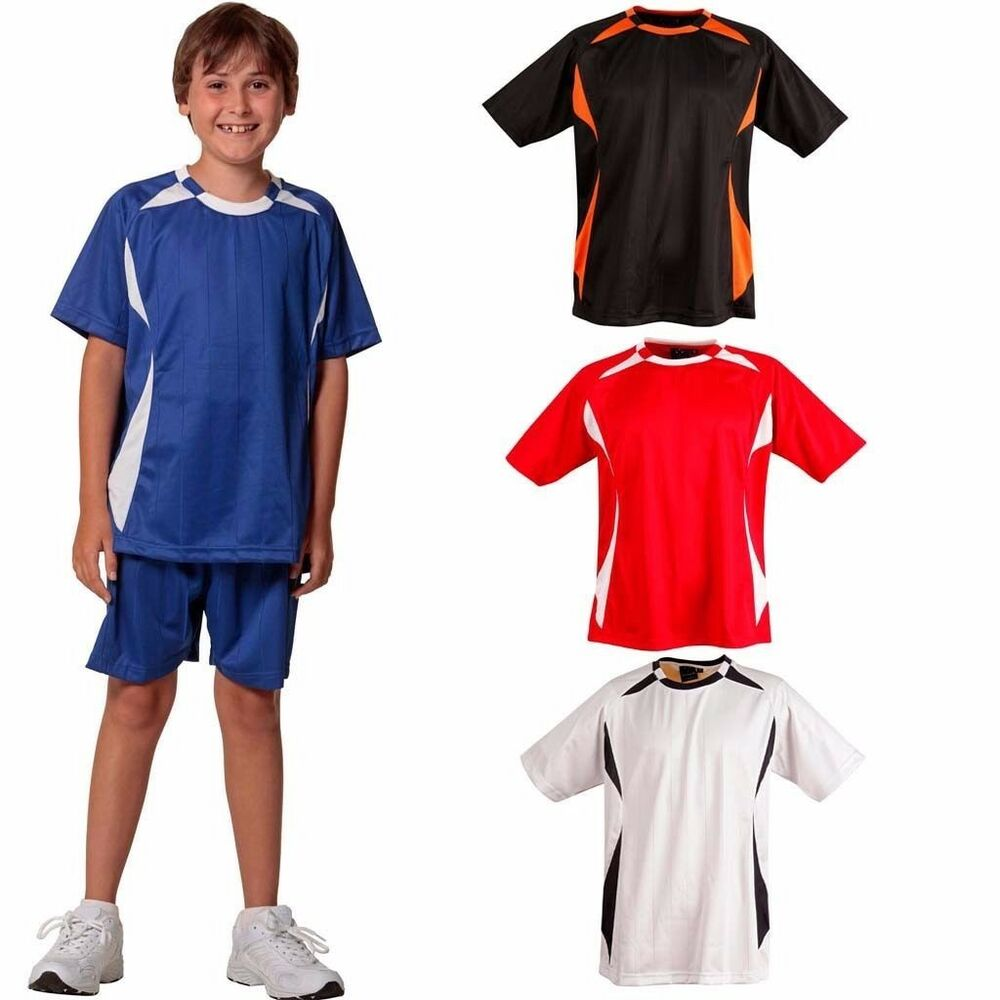New kids sport shoot jersey tshirt shirt football soccer for Best athletic dress shirts