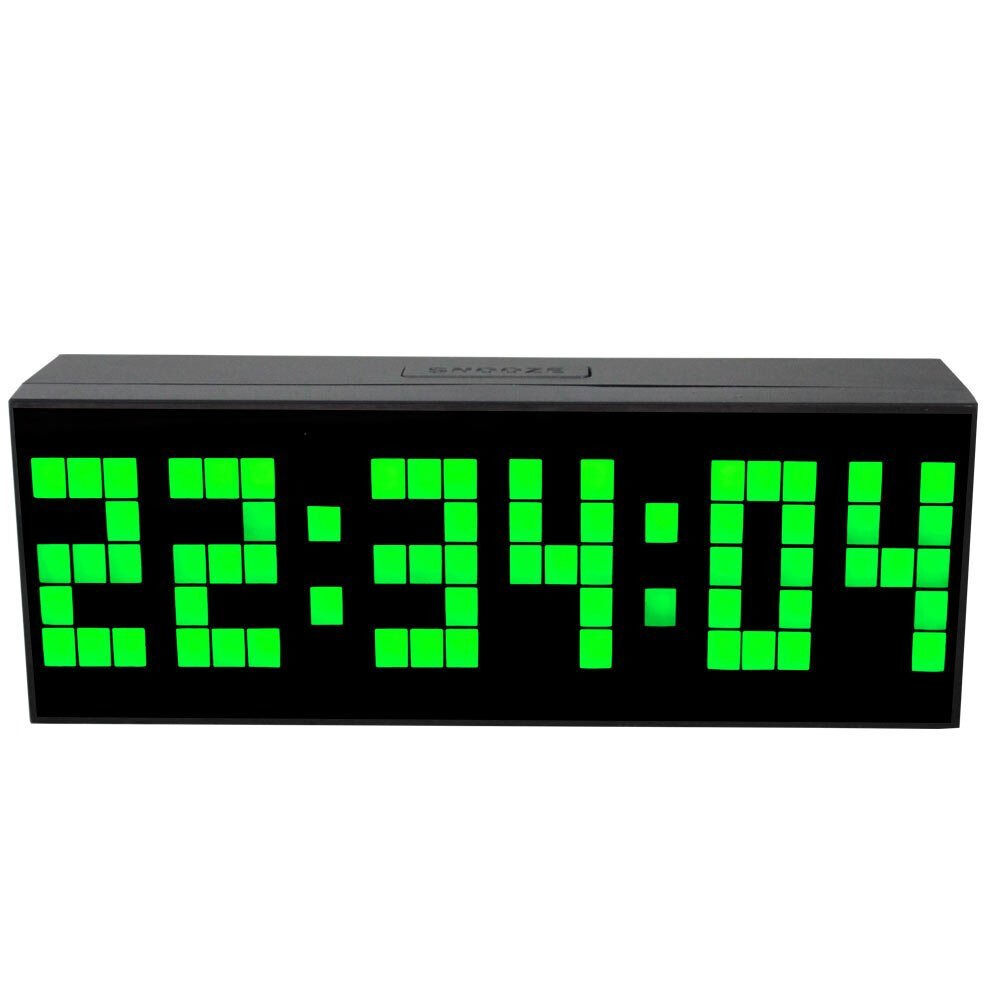 Jumbo led digital wall clock table kitchen alarm art decor Digital led wall clock