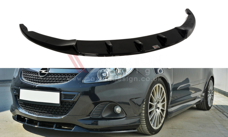 front splitter gloss black vauxhall opel corsa d vxr. Black Bedroom Furniture Sets. Home Design Ideas