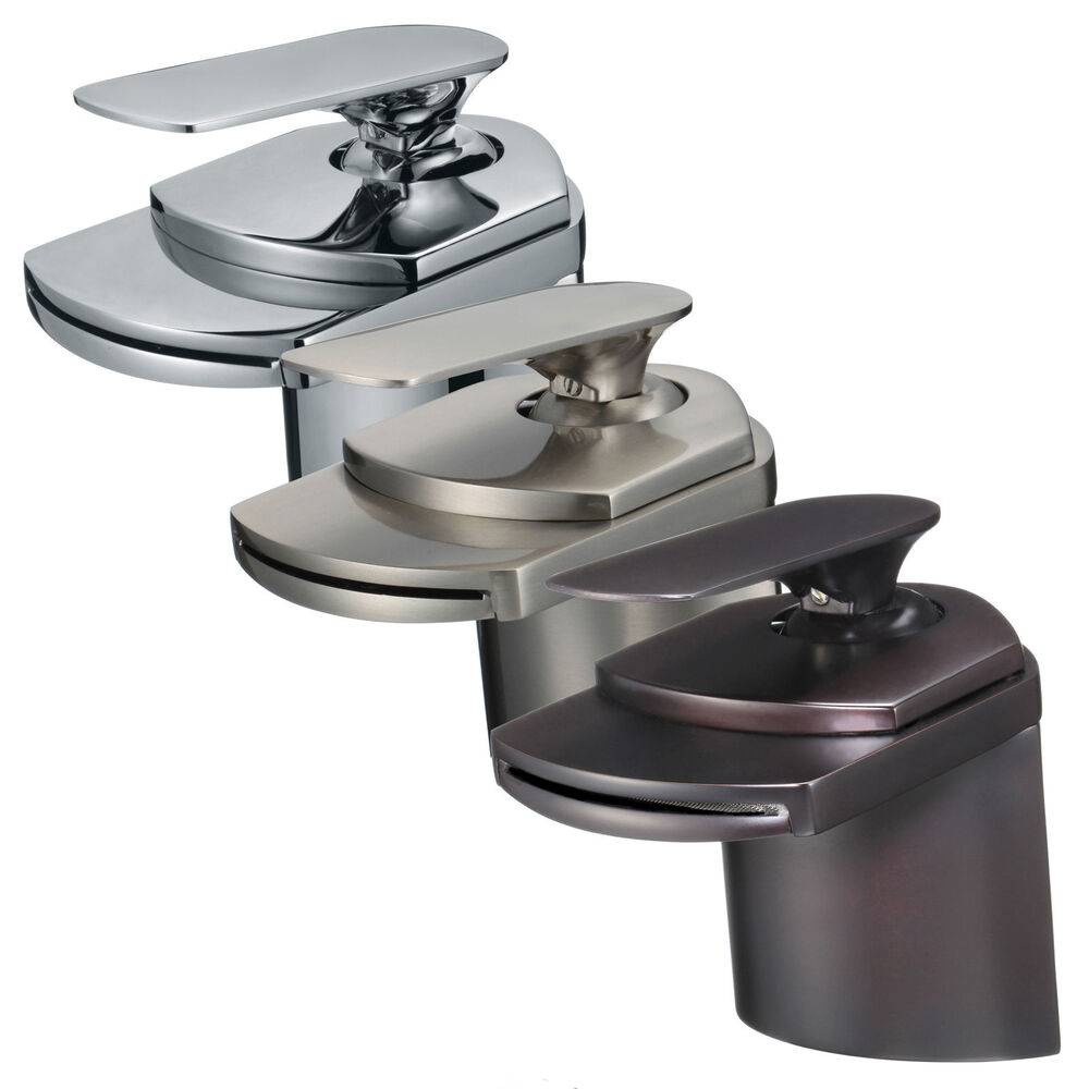 4 Waterfall Bathroom Faucet Chrome Brushed Nickel Oil Rubbed Bronze Vessel Tap Ebay