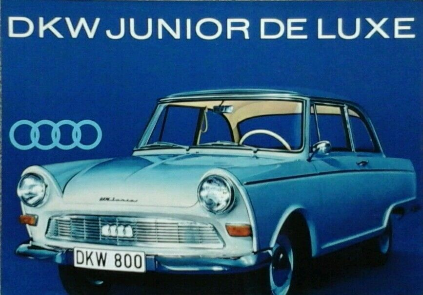 auto union dkw junior de luxe sales brochure ebay. Black Bedroom Furniture Sets. Home Design Ideas