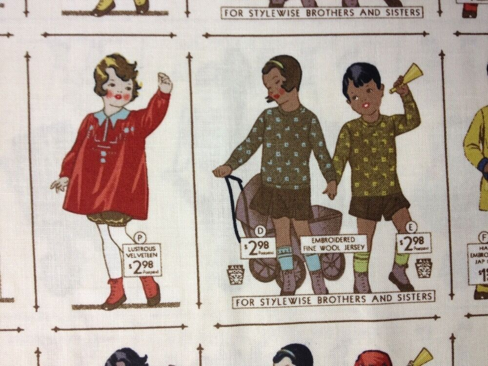 Pnl107 vintage childrens clothing sewing pattern cotton for Cotton fabric for children s clothes