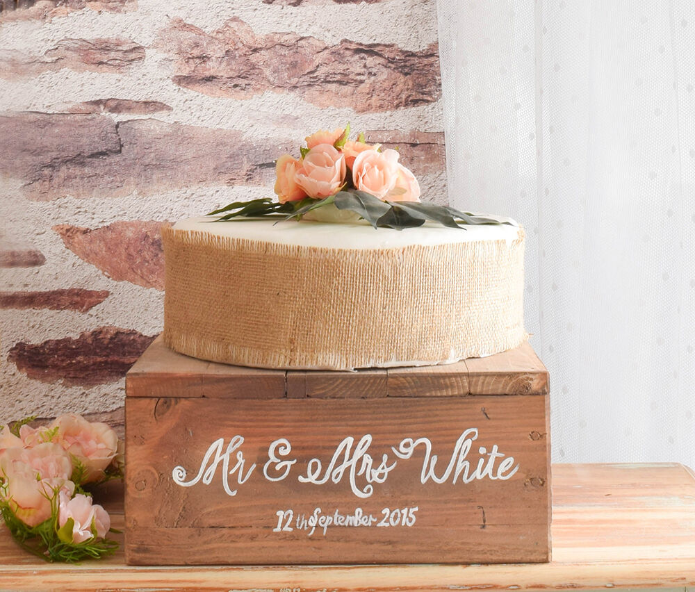 Rustic Wooden Wedding Cake Stand Ebay