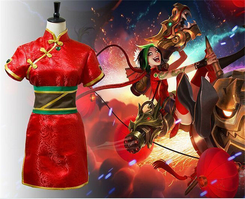 Custom Made League of Legends Loose Cannon Jinx Cosplay ...   Jinx League Of Legends Outfit