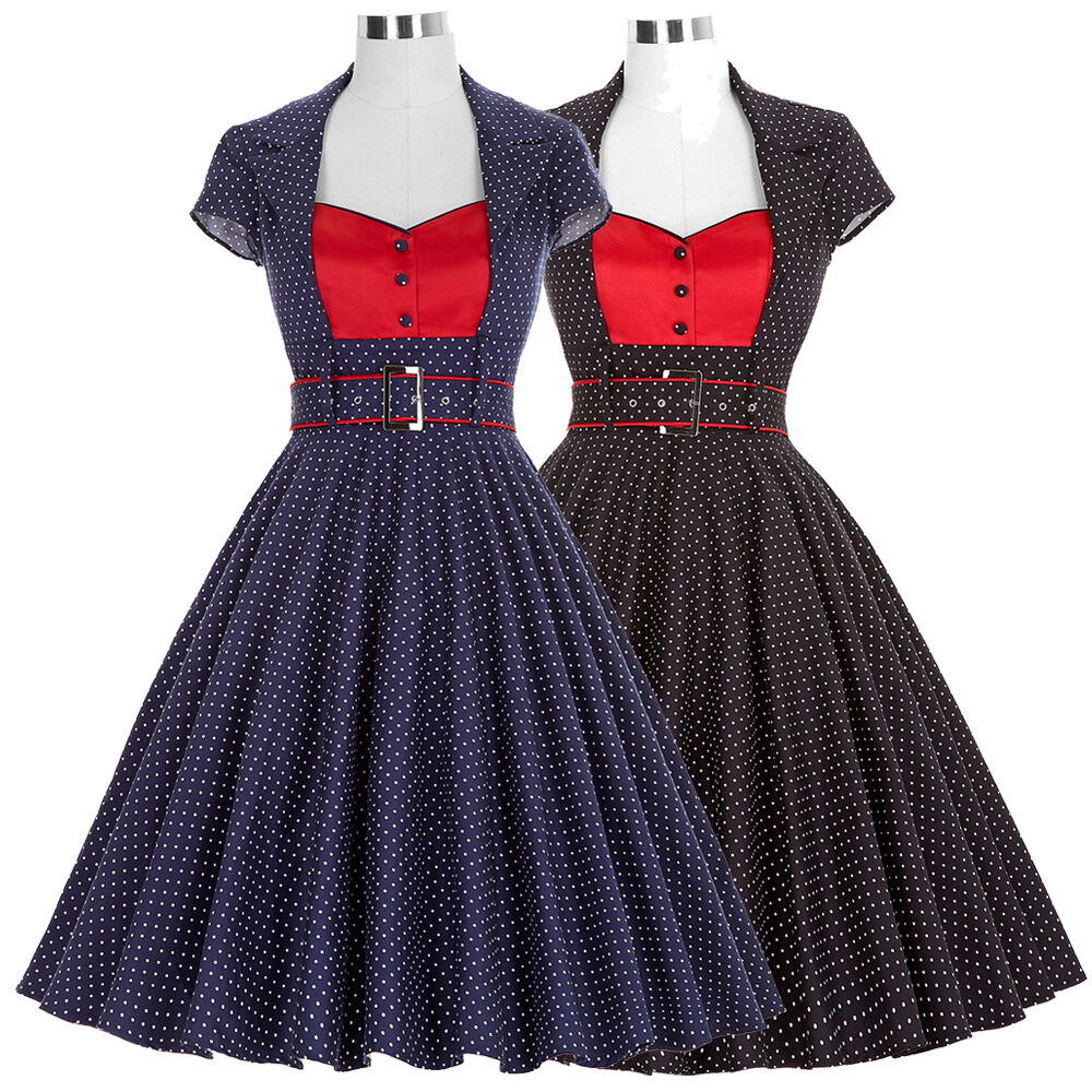 50'S 60'S COCKTAIL Party DRESS Vintage Style Swing Pinup ...