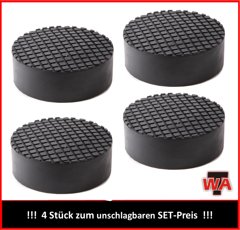 gummiteller gummiauflage f r wagenheber hebeb hne d 130mm h 40mm 4er set ebay. Black Bedroom Furniture Sets. Home Design Ideas