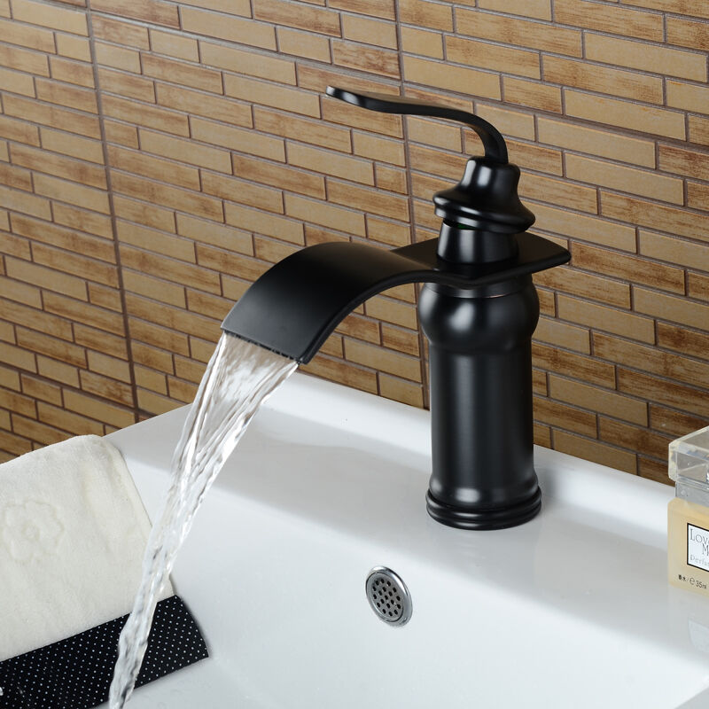 7 Bathroom Faucet Chrome Brushed Nickel Oil Rubbed Bronze Waterfall Vessel Tap Ebay