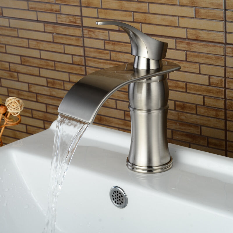 oil brushed bronze kitchen faucet 7 quot waterfall bathroom faucet chrome brushed nickel oil rubbed bronze vessel tap ebay 5770