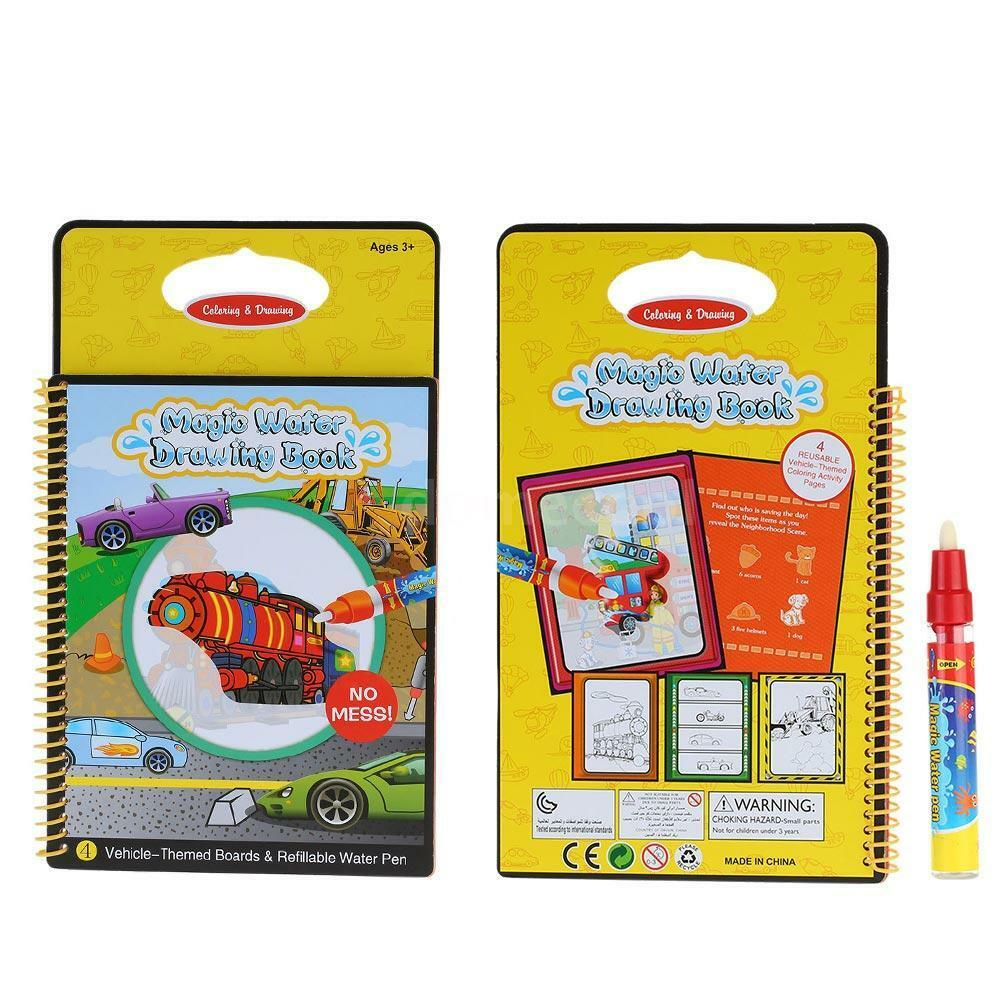 Magic Water Drawing Book Coloring Book Doodle W Pen