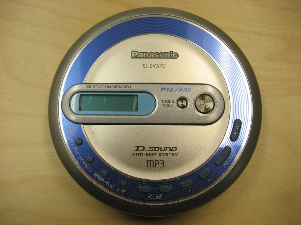 panasonic sl sv570 portable cd player mp3 fm am radio. Black Bedroom Furniture Sets. Home Design Ideas