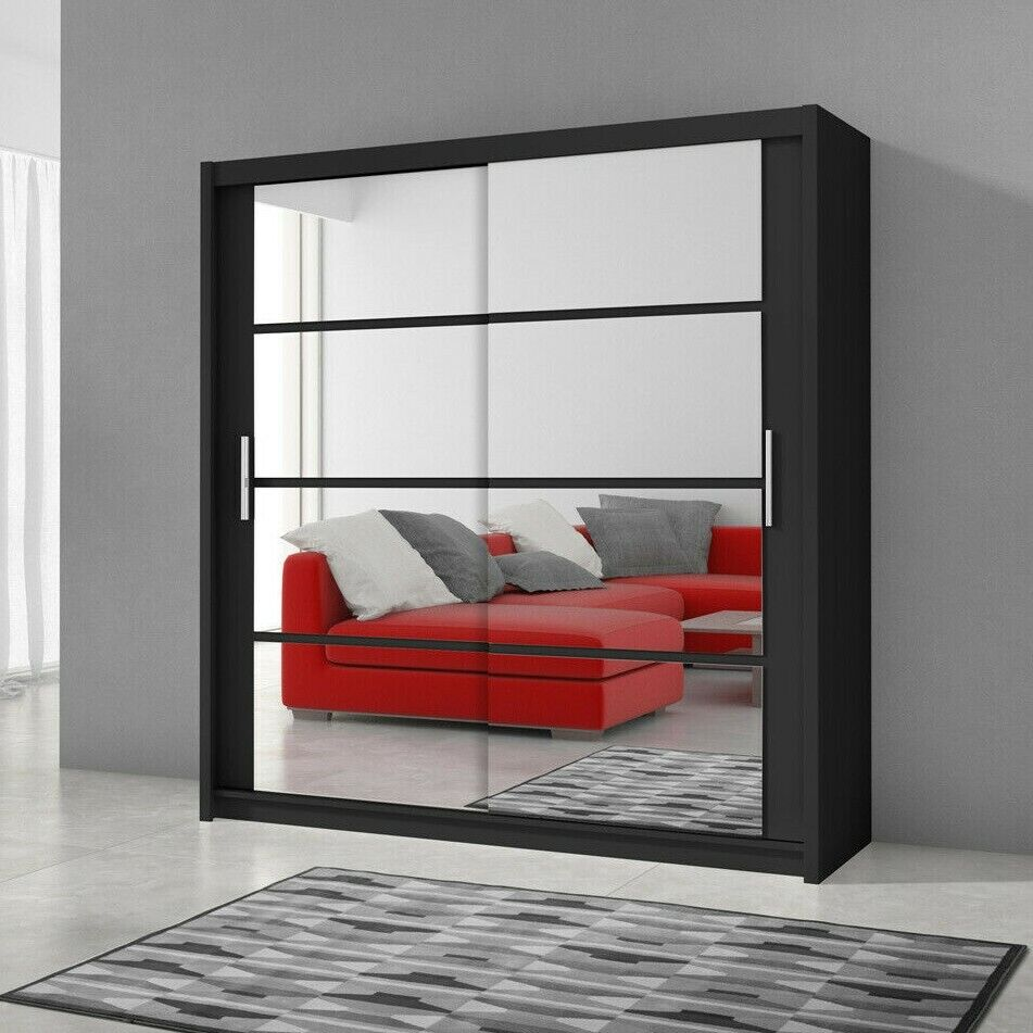 schwebet renschrank kleiderschrank dakota 160 mit spiegel. Black Bedroom Furniture Sets. Home Design Ideas