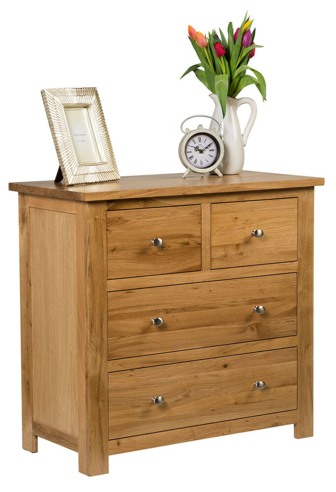 Small oak chest of drawers solid wood low childrens kids - Solid wood youth bedroom furniture ...