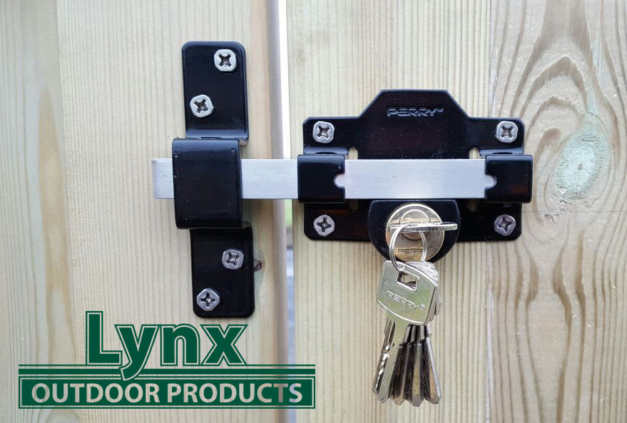 Perry 50mm Long Throw Gate Lock For Garden Gat Shed Door