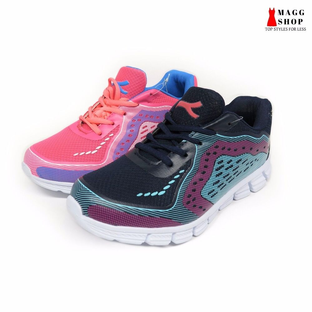 new s mesh running athletic laces pink navy