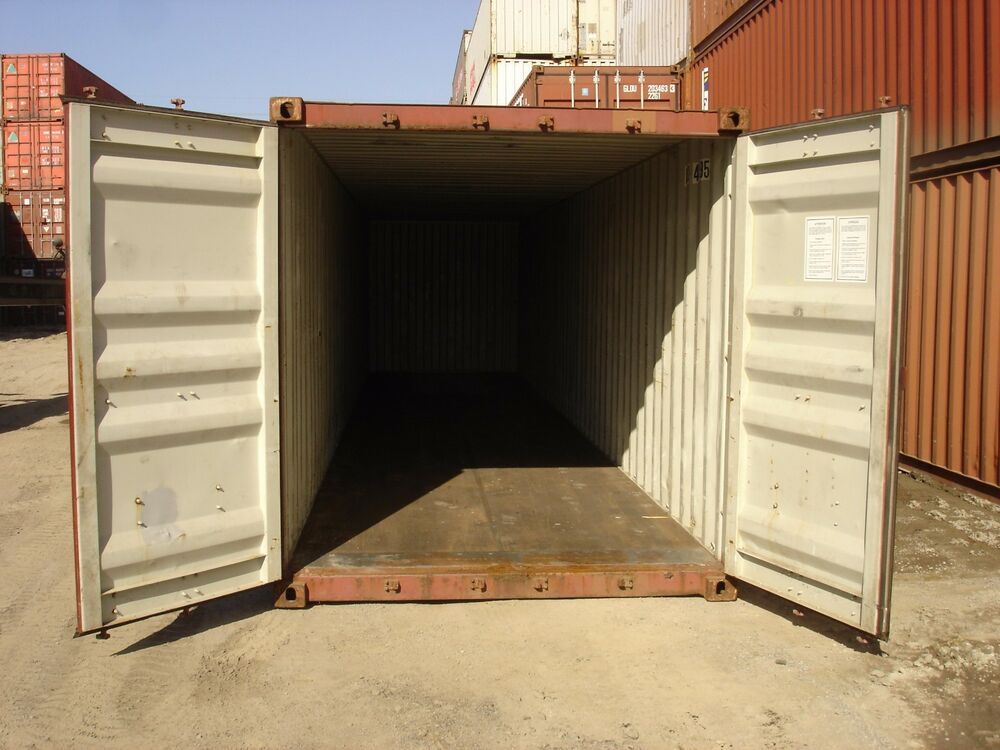 Used 40 39 high cube steel storage container shipping cargo conex seabox dallas ebay - How to find shipping containers for sale ...