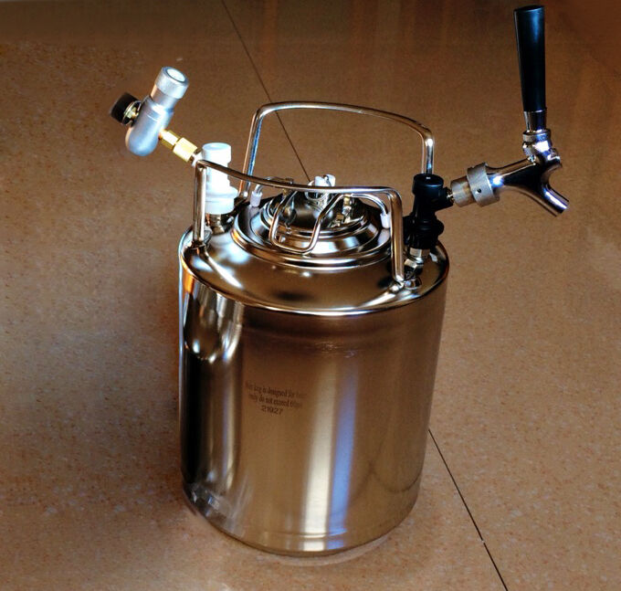 New 10l Cornelius Style Stainless Steel Beer Ob Keg Party