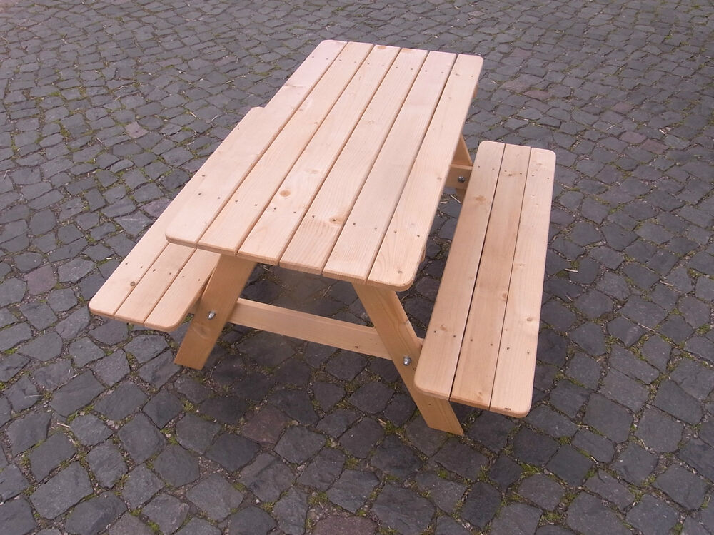 kinder picknicktisch holz kindertisch kindersitzgruppe 4 sitzer gartenbank tisch ebay. Black Bedroom Furniture Sets. Home Design Ideas