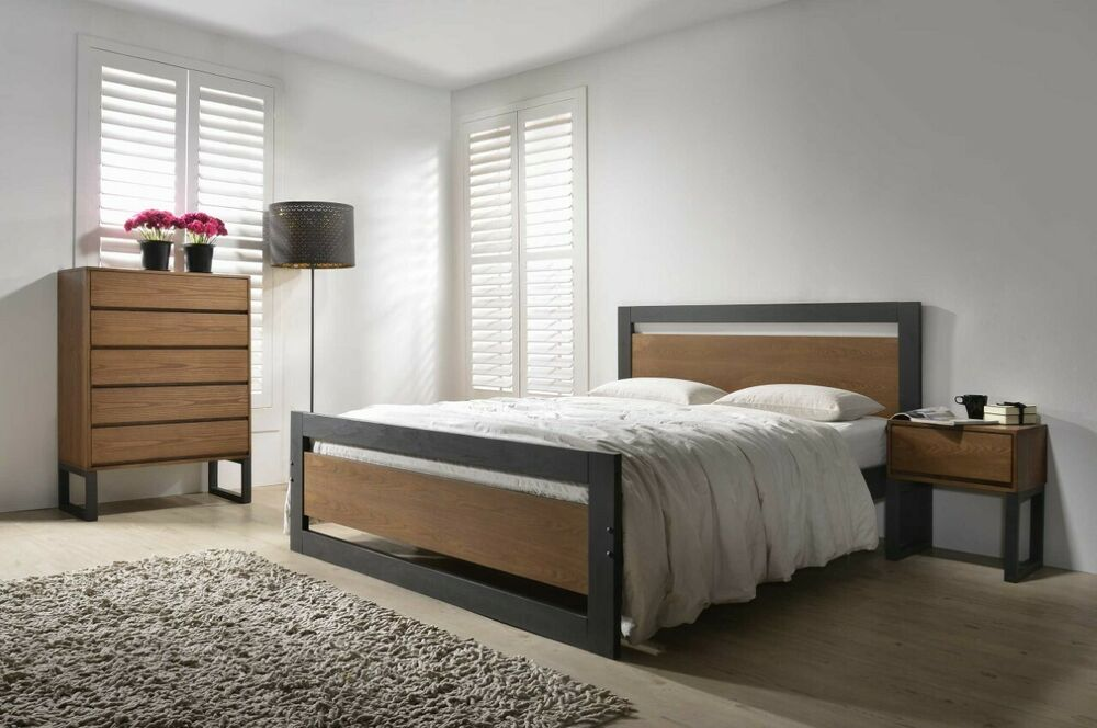 New Shaker Style Wooden Bed In Oak Or White Curved