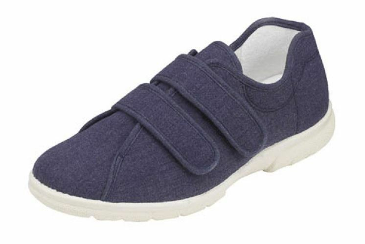 Mens Extra Wide Canvas Slip On Shoes
