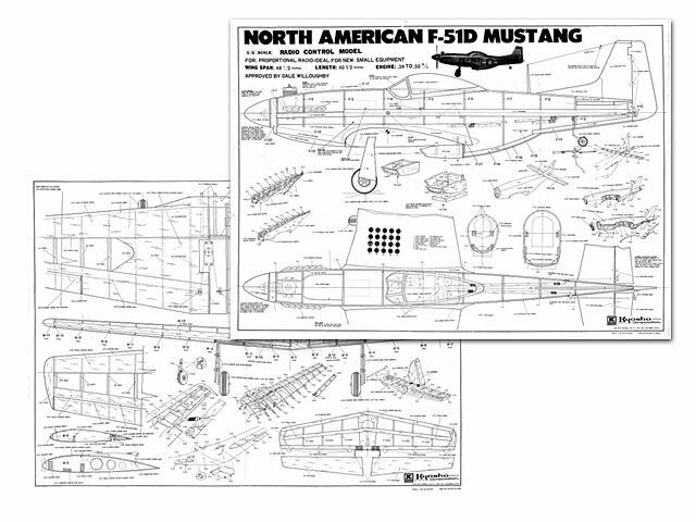 North American F 51d Mustang Full Size Model Airplane Kit