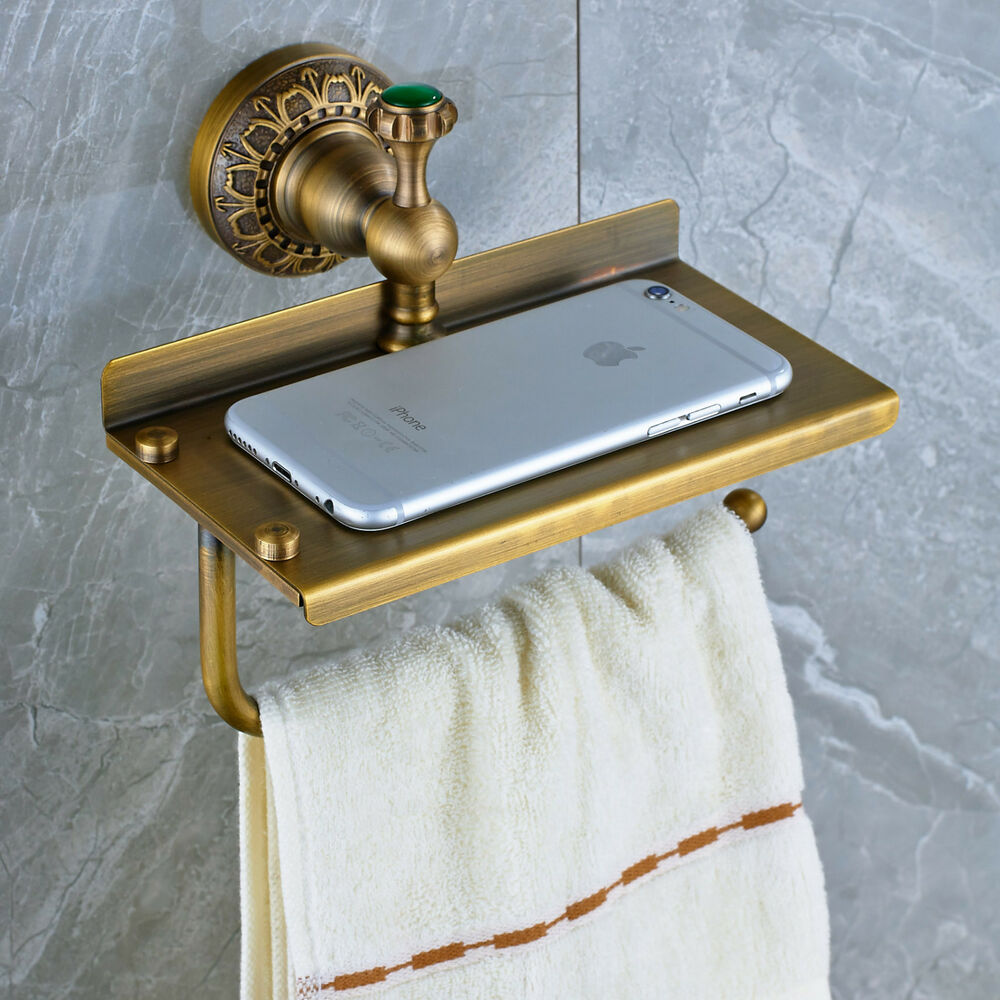 Wall Mounted Multifunctional Toilet Paper Holder Antique Brass EBay