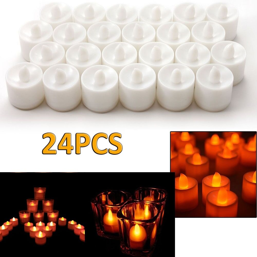 led flameless tealights battery operated tea light candles ebay. Black Bedroom Furniture Sets. Home Design Ideas