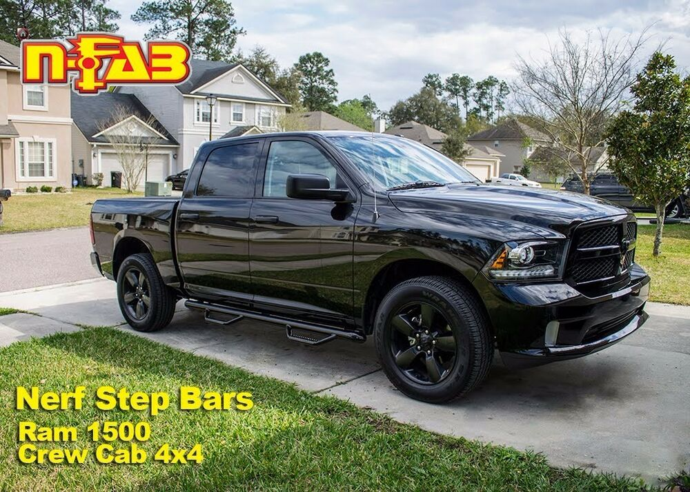 "Ram 1500 Running Boards >> 2009-2015 Ram 1500 | 2010-2017 Ram 2500/3500 3"" N-Fab Nerf Bars Side Steps Black 