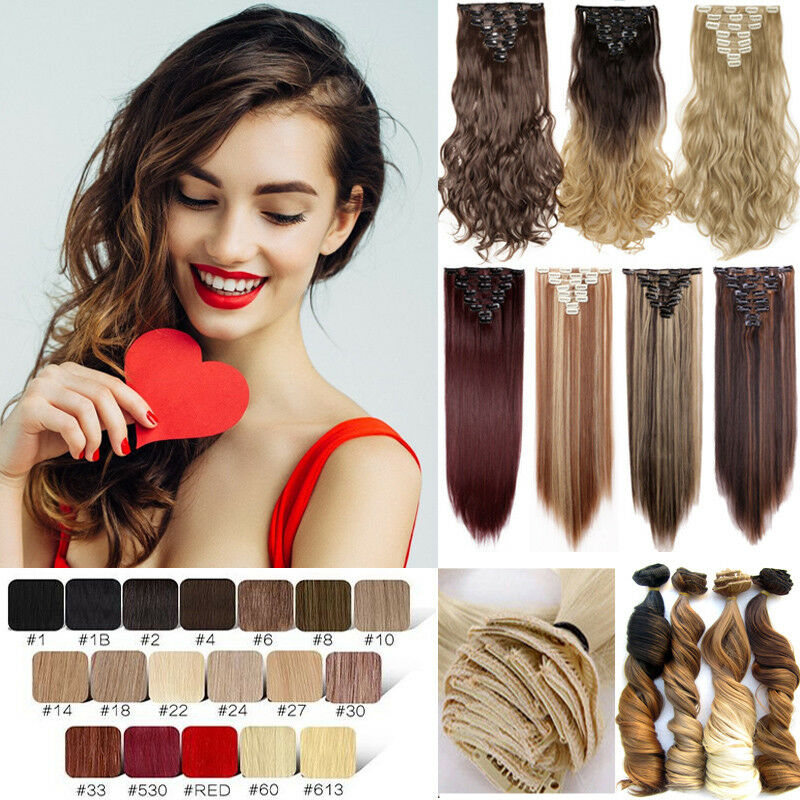 100 Real Natural Hair Full Head Clip In Ins Hair