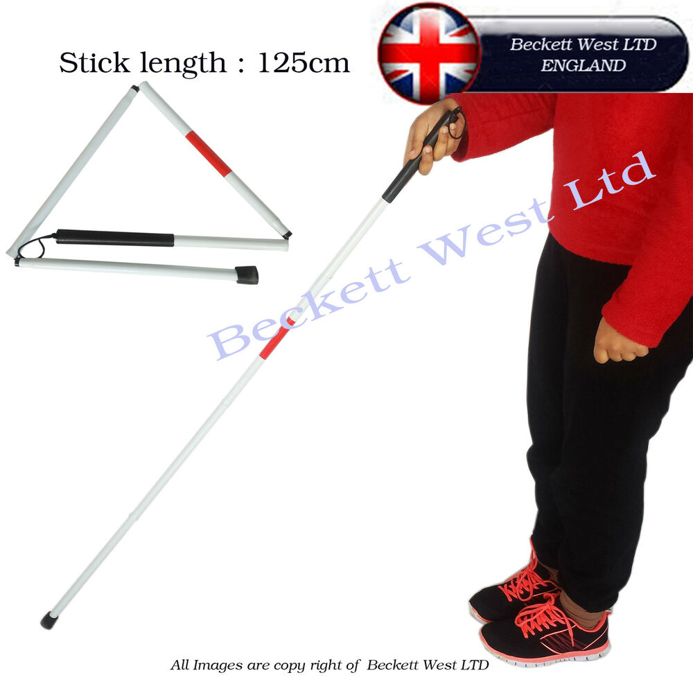 Folding Blind Stick Visually Impaire Guide cane support ...