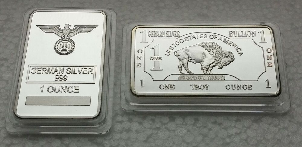 1 Oz German Silver Iron Cross Amp American Buffalo Art Bars