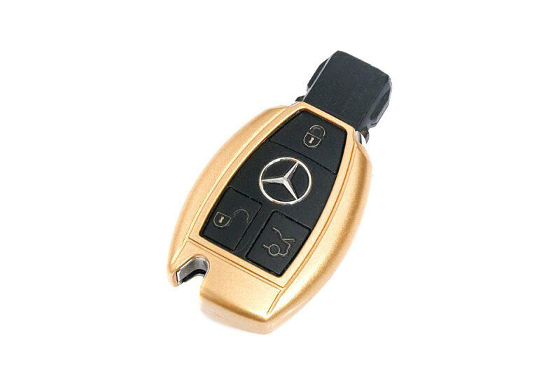 mercedes benz gold remote key cover case skin shell cap fob protection start abs ebay. Black Bedroom Furniture Sets. Home Design Ideas